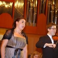 Alja Koren, dr. med. s prekrasnim glasom in na violini Andrej Gubenšek, dr.med.
