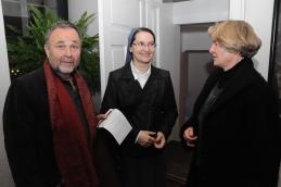 Prijetno druženje po koncertu, dr. Košorok, sestra Božena in dr. Demšar.