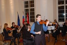 Z Andrejem Gubenškom, dr. med., dolgoletnega solista orkestra, smo prvič izvedli priredbo Madžarskega plesa št. 6, J. Brahmsa.