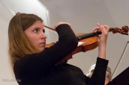 Vodjo 2. violin, Nežo Eržen, smo spremljali pri izvedbi Arije Lenski, iz opere Evgenij Onjegin.