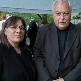Vodji orkestra, koncertna mojstrica Vila in dirigent Avsenek.