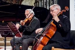 Violist, prof. Avsenek in violončelist Stane Demšar.