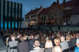 Otvoritev je otvoril Akademski pevski zbor Medicinske fakultete v Mariboru.