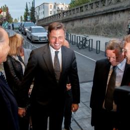 Prihod predsednika države, Boruta Pahorja.