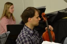 Po dolgem času pa se nam je na vajah pridružil tudi spec. nevrologije, violist Tomaž.