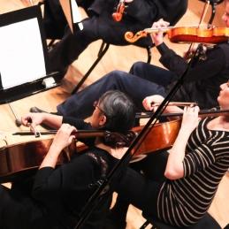 Violončelistki in violist Tomaž.