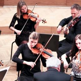 Prof. Avsenek in druge violine.