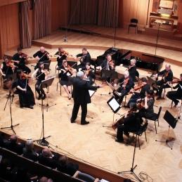 Sledilo je delo Saše Šantla, Theme Slovene, v priredbi našega dirigenta, prof. Avseneka.