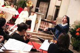 Zaradi srčnega žara, ki ga je Sestra Božena preko zbora in orkestra ponesla med vse prisotne....
