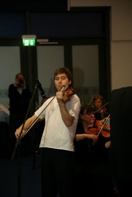 Z nami je sedaj že tradicionalno nastopil tudi violinist, Andrej Gubenšek, dr. med.