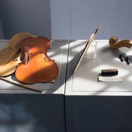 Violina v nastajanju... Podoba, zelo znana našemu violistu in goslarju Viliju Demšarju.